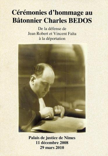 Cérémonie d'homage au Bâtonnier Charles Bedo
