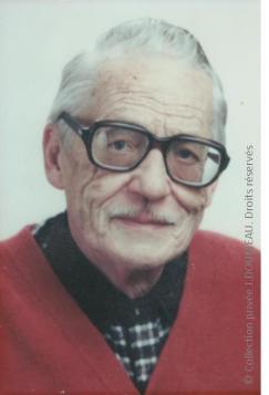 Arsène DOUMEAU avant son décès 1995 crédit coll préivée Doumeau dR