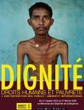 affiche exposition dignité droits humains pauvreté  amnesty
