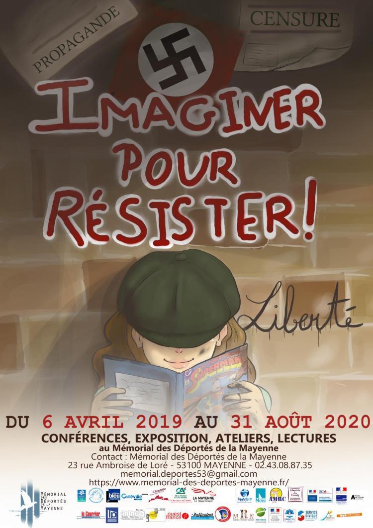 maquette affiche imaginer pour résister 2019 bis